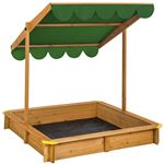 Arenero con cubierta ajustable, Verde