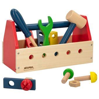 Caja de herramientas en madera 18 piezas - Woomax