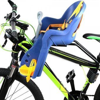 Silla delantera infantil para bicicleta Color - Azul/Amarillo