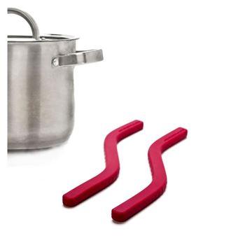 Salvamanteles Flexible, Set de 2 Rojo