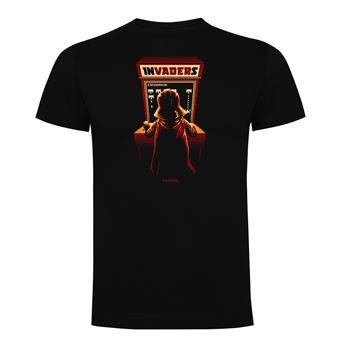 Camiseta manga corta Friking, Modelo 1021 Star Wars, Arcade invaders Talla L, Negro