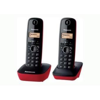 Dect Panasonic TG1612 duo negro rojo