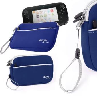 Funda Protectora Azul Para Consola WiiU - Con Bolsillo Externo Y Cuerda De Quita Y Pon - Hecha En Neopreno De Alta Calidad Por DURAGADGET