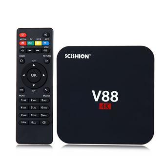 Android TV Box Scishion V88 1GB+8GB Android 7.1, Smart TV Box 4K Negro