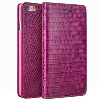 d247cbe5175 Funda de Cuero Qialino para iPhone 6 Plus / 6S Plus - Piel de Cocodrilo - Estilo  Cartera - Rosa Fuerte - Fundas y carcasas para teléfono móvil - Los mejores  ...