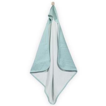Capa de baño Jollein, 75x75 cm tejido panal Jade