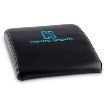 5x Capital Sports AB Mat Esterilla para abdominales y flexiones verticales (30x7x37 cm, acolchado espuma, cuero sintético, diseño ergonómico, evita lesiones, negro)