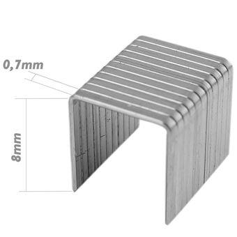 Recambio de grapas Tolsen 8x0.7 mm 1000pcs de herramientas