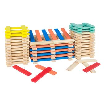 Cubo 200 piezas de madera apilables - Play & Learn