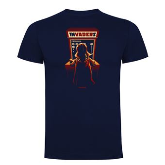 Camiseta manga corta Friking, Modelo 1021 Star Wars, Arcade invaders Talla XL, Navy