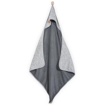 Capa de baño Jollein, 75x75 cm tejido lavado piedra Gris