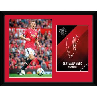 Fotografía enmarcada Manchester United Matic 17/18 20x15 cm