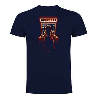 Camiseta manga corta Friking, Modelo 1021 Star Wars, Arcade invaders Talla S, Navy