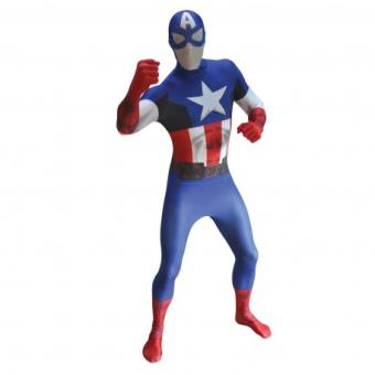 Disfraz Capitán América Classic Morphsuit Original - Talla - XXL