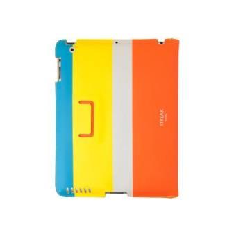 Funda Soporte para iPad 3/4ª Generación (Retina) Uniq Streak Whimsy Turquesa/Amarillo/Coral