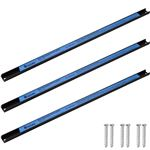Set de 3 soportes para herramientas con bandas magnéticas de 60 cm, Negro/Azul