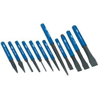 Juego cincel y punzón Draper Tools, 12 piezas Azul 26557