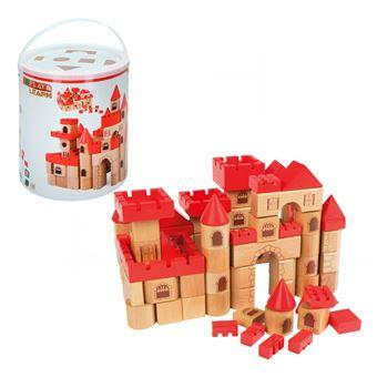Castillo medieval en madera 100 piezas Play & Learn