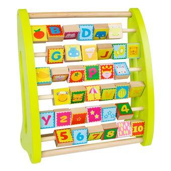 Ábaco de madera con números y dibujos - Play & Learn