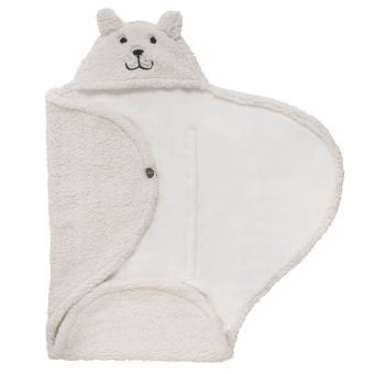 Manta envolvente de bebé Teddy Bear Blanco crudo