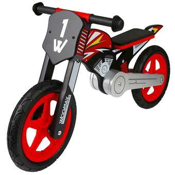 """Bici sin pedales en madera Sport Bike Roja 12"""""""" Woomax"""