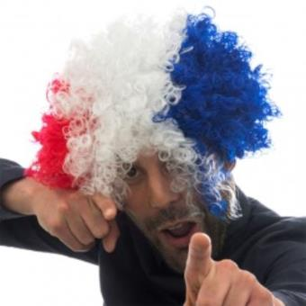 Peluca Afro Bandera de Francia