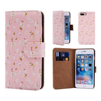 6ff43f8031d 32nd® Diseño floral Funda Cartera de cuero para Apple iPhone 7 Plus, Funda  Carcasa de Diseño de flores con ranuras para tarjetas - Peach Blossom -  Fundas y ...