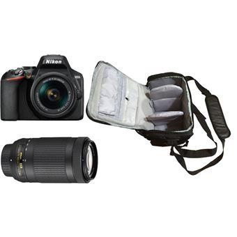 Nikon D3500 + AF-P DX 18-55mm f/3.5-5.6G VR + AF-P DX 70-300mm f/4.5-6.3G ED VR + KamKorda Bolso