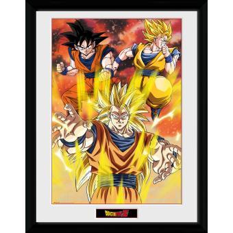 Fotografía enmarcada Dragon Ball Z 3 Gokus 30x40 cm