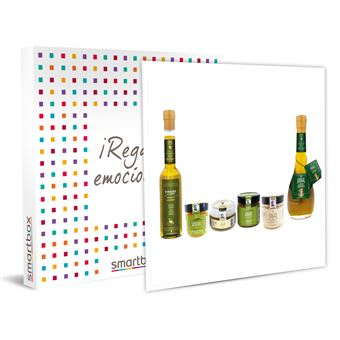 Smartbox - Cesta gourmet a domicilio: sal, vinagre, aliño de sidra, emulsión y mermelada de AOVE  Caja regalo Gastronomía