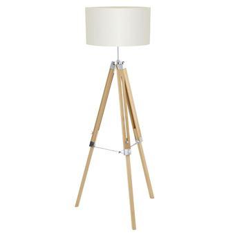 Lámpara de pie Eglo, Lantada 94324, 150 cm, beige