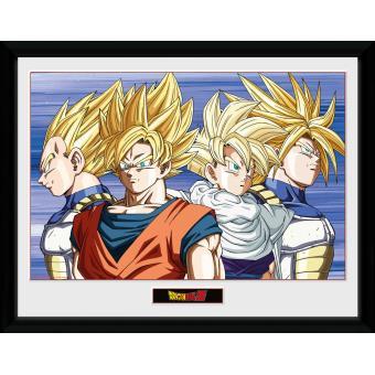 Fotografía enmarcada Dragon Ball Z Grupo 30x40 cm