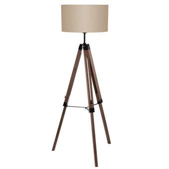 Lámpara de pie Eglo, Lantada 94326, 150 cm, Gris pardo