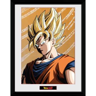 Fotografía enmarcada Dragon Ball Z Goku 30x40 cm