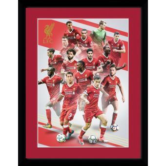 Fotografía enmarcada Liverpool Jugadores 17/18 30x40 cm