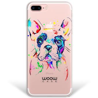 4104495aa80 Funda iPhone 7 Plus híbrida Perro Bulldog Francés Dibujos Animales  Multicolor Rígida y bordes de TPU Silicona - Transparente - Fundas y  carcasas para ...