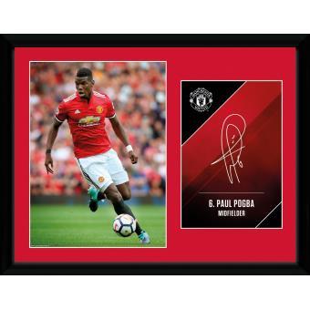 Fotografía enmarcada Manchester United Pogba 17/18 30x40 cm