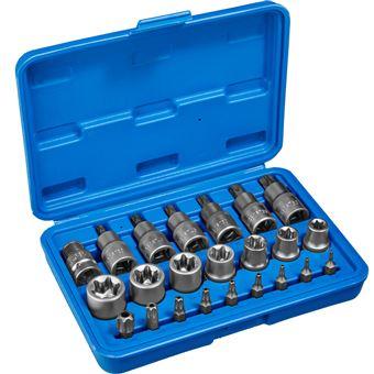 Torx llave tubular juego de puntas 23 piezas, Azul