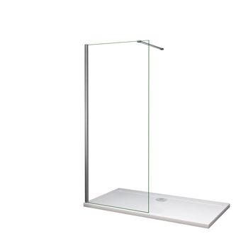 Mamparas de ducha Frontales Puerta fijo Cristal 6mm Antical Barra 90cm 65x185cm