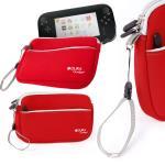 Funda Protectora Roja Para Consola WiiU - Con Bolsillo Externo Y Cuerda De Quita Y Pon - Hecha En Neopreno De Alta Calidad Por DURAGADGET