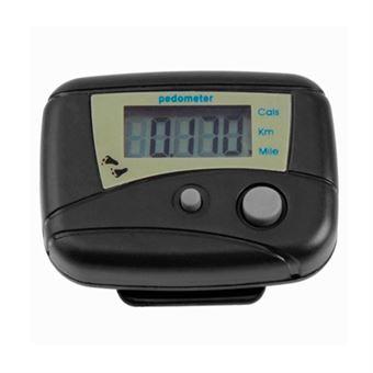 Podometro contador de calorias digital cuenta pasos calorímetro pedometer negro