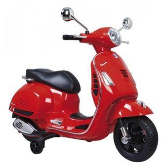 Vespa-Moto de batería para niños-Roja-Motoor Kids