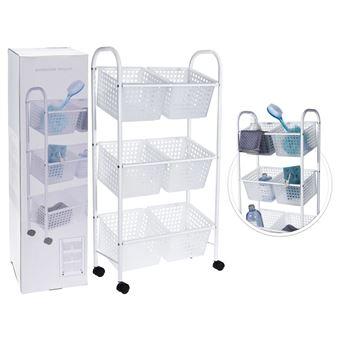 Cesta para cuarto de baño con 6 cestas Bathroom Solutions