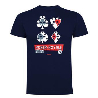 Camiseta manga corta Friking, Modelo 691 Poker Royale, Talla L, Navy