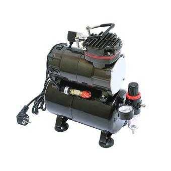 Compresor de aerografía airbrush tc-88t con reserva de aire, regulador e interruptor doble posición
