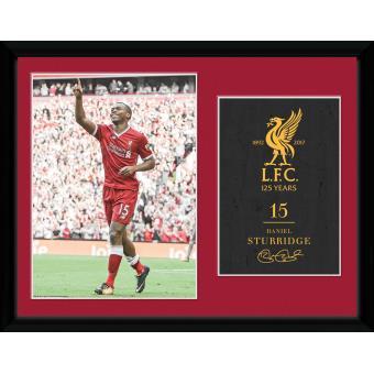 Fotografía enmarcada Liverpool Sturridge 17/18 30x40 cm