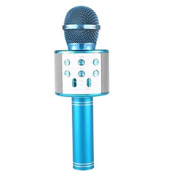 Microfono inalambrico bluethooth Klack karaoke micro voz wirelles 858 azul