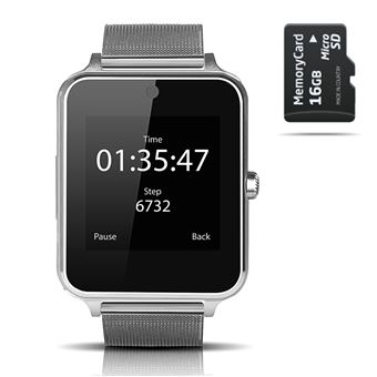 Smartwatch Smartek SW-832 Metal Plata + 16GB SD