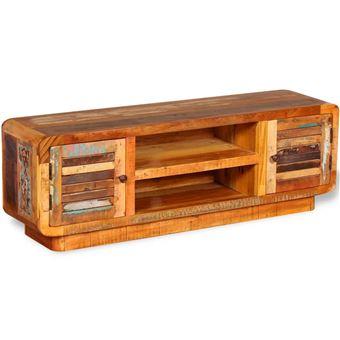 Mueble para TV de madera reciclada 120x30x40 cm Mueble Soporte