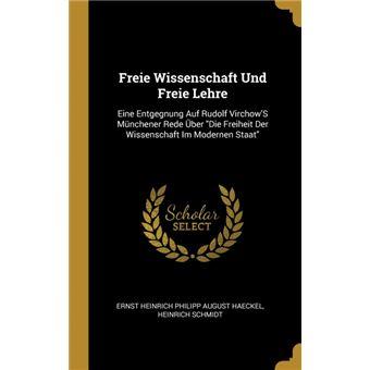 Serie ÚnicaFreie Wissenschaft Und Freie Lehre HardCover
